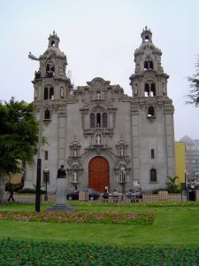 A cathedral next to Parque Kennedy, Miraflores, Lima.