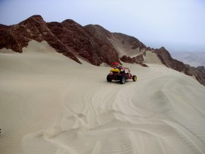 The dune buggy ride in Ica, Perú.