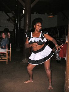A native dancer performing after dinner at the Hotel-Hacienda Ocucaje.