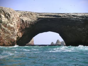 Rock formations at the National Reserve of Paracas.
