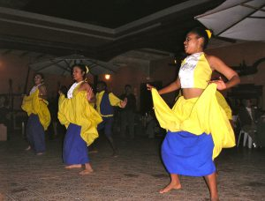 Afro-Peruvian dancers performing after dinner at the Casa Hacienda San José.