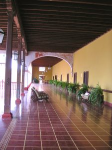 The front porch of the Casa Hacienda San José.