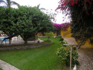 The pool area at the Casa Hacienda San José, Chincha.