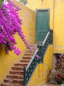 A staircase at the Casa Hacienda San José, Chincha.