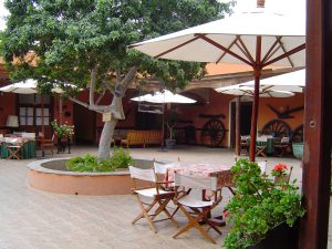 The patio area at the Casa Hacienda San José, Chincha.