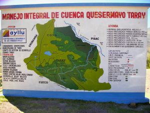 A sign in the town of Taray, on our way to Písac.