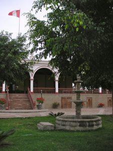 The front entrance of the Casa Hacienda San José, Chincha.