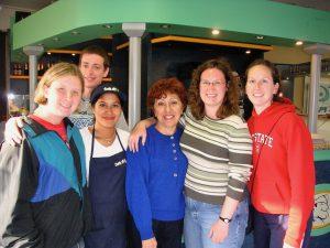 Us at Dove Vai - everyone's favorite ice cream shop.