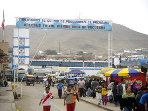 The fishing dock of Pucusana, Perú.