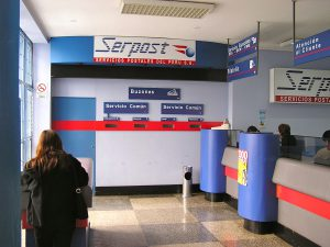 Serpost, the postal service in Perú.
