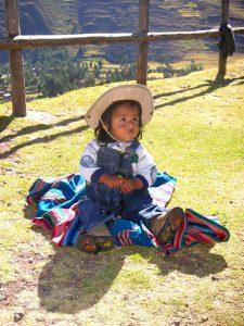 A baby in Taray, Cusco.