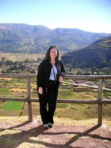 Sra. Schwarz in Taray, Cusco.