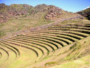 Beginning the trail to the Písac Inca Ruins, Písac, Cusco.