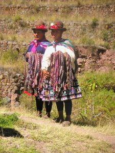 Native speakers of Quechua at the end of the trail in Pisac.