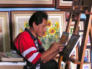 An artist working in Miraflores, Lima.