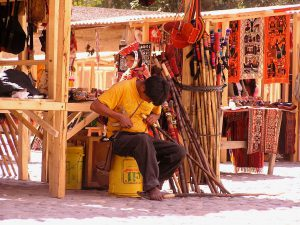 A local worker in the town of Ollantaytambo, Cusco.