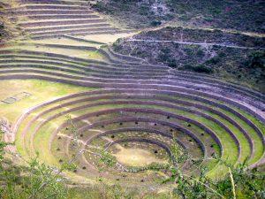 The Moray Inca Ruins near the town of Maras in Cusco.