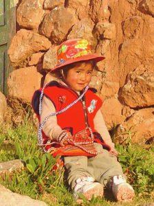 A boy in the town of Chinchero, Urubamba, Cusco.