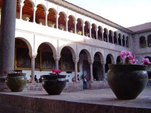 The center courtyard in Qorikancha, Convento de Santo Domingo, Cusco.