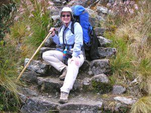 Day 3: Sra. Schwarz on the Camino Inka.
