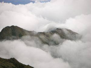Day 4: In the morning, looking down at the clouds.