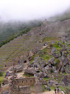 Day 4: Tourists at the Machu Picchu Inca Ruins.