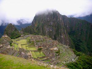 Day 4: The Huayna Picchu peak towering over Machu Picchu.