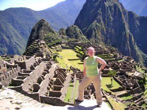 Sra. Schwarz at the Machu Picchu Inca Ruins in Perú.