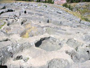 The limestone Kenko Inca Ruins, Cusco.