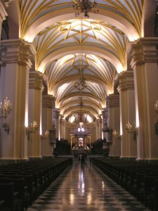 Inside La Catedral de Francisco Pizarro, Lima.
