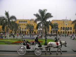 Plaza Mayor in front of the president's residence, Lima.