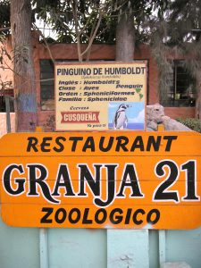 The Granja 21 Restaurant and Zoo in Lima.
