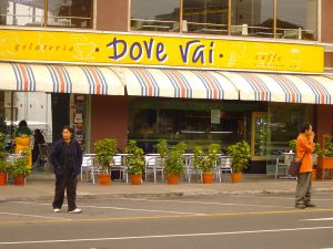 Dove Vai, everyone's favorite ice cream shop, in Miraflores, Lima.